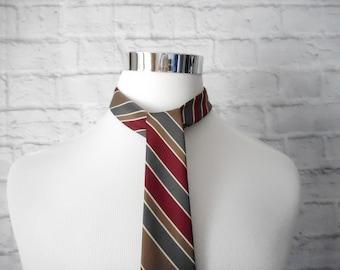 715bcf9040d8 Vintage 1980s Playboy Tie, Vintage Playboy, Vintage Necktie, 1980s Playboy,  1980s Striped Tie, Vintage Striped Tie,80s Tie,Earth Tones