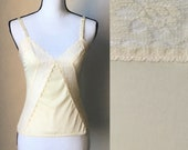 Vintage Family Fashions by Avon,1970s Ivory Camisole,1980s Lace Camisole,Vintage Avon,Vintage Ivory Lace Camisole,Vintage Nude Cami