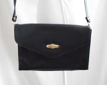 Vintage 1980s 1990s Capezio Purse,Vintage Faux Leather Purse,Vintage Capezio,Navy  Blue Purse,Envelope Flap,80s purse,90s purse,Vegan Leather a615191403
