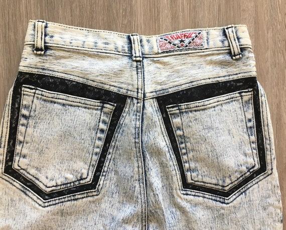 1980s Acid Wash Jeans,Vintage Traffic,1980s Bleac… - image 5