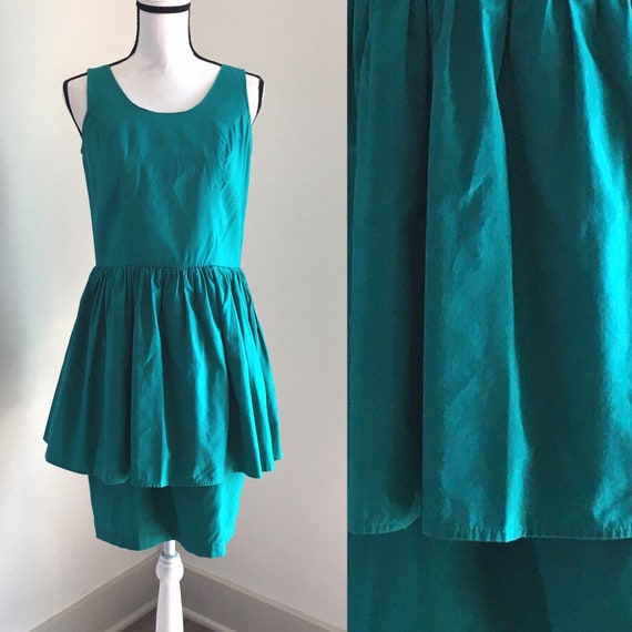 Vintage Ulterior Motives,1980s PInafore Dress,1980