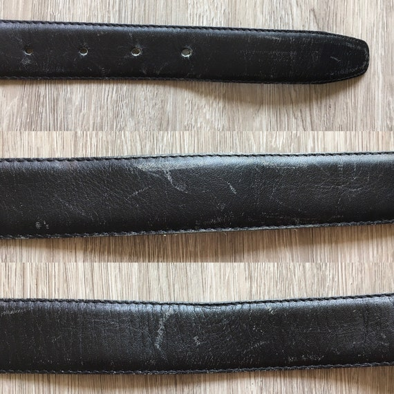 1950s Men's Leather Belt,Vintage Italian Leather … - image 9