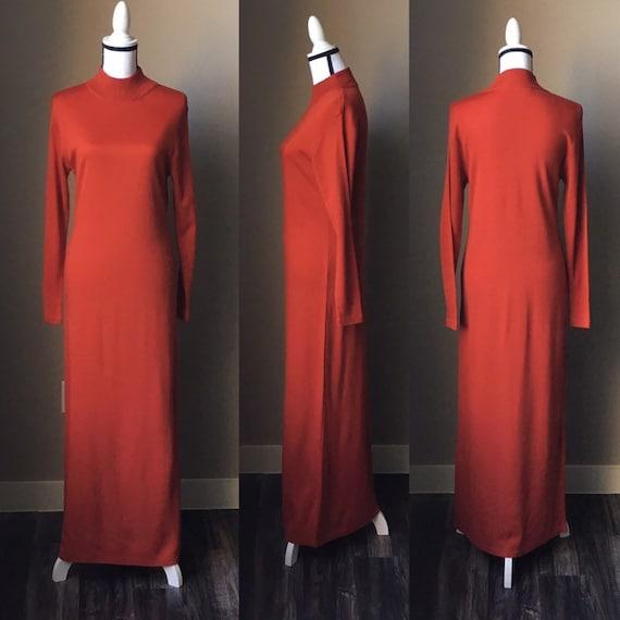 Vintage IKC Dress,1990s Long Sleeve Turtleneck Dre