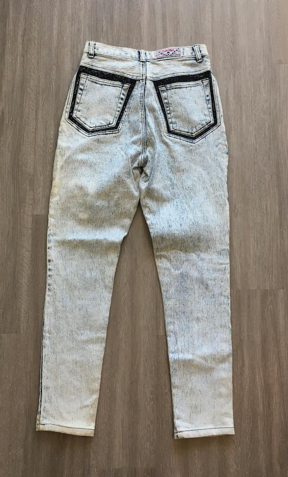 1980s Acid Wash Jeans,Vintage Traffic,1980s Bleac… - image 3