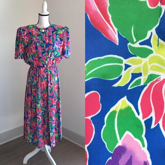 Vintage 1980s Leslie Belle Pink Blouse Size XL