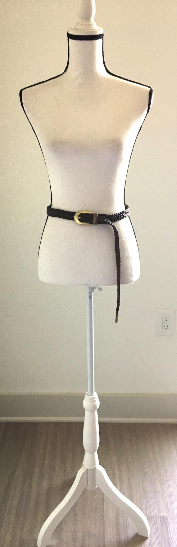 Vintage Capezio,1980s Woven Leather Belt,1980s Bro