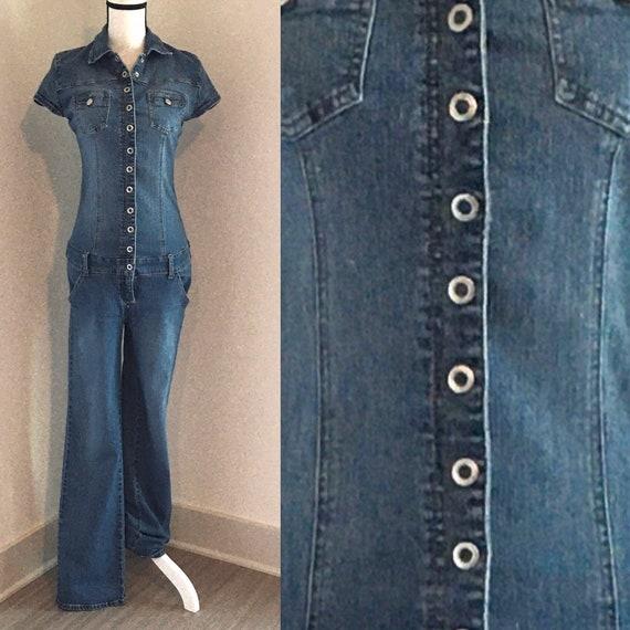 Vintage Hi Jeans,1990s Denim Jumpsuit,1990s Denim