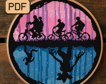 Cross Stitch Pattern, Stranger Things Cross Stitch PDF, Demogorgon Cross Stitch Chart, Instant Download