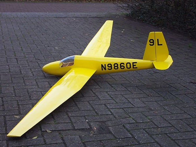 NEW LISTING! Plans - Plywood & Balsa 1:5 Scale SGS 1-23 Schweizer Sailplane  2 7-3 3m Span (2 sheets 36