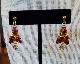 Three-Point Byzantine Chainmail Earrings