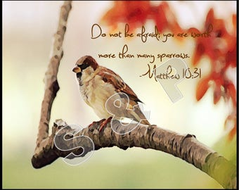 Sparrow wall art etsy sparrow bible verse wall decor art print 8x10 instant download thecheapjerseys Image collections