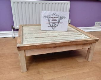Rustic Reclaimed Upcycled coffee table