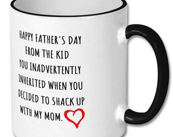 62be3f8e STEPDAD MUG, sweet gift for stepdad, stepdad gift, stepdad coffee mug, stepdad  fathers day, fathers day gift, stepfather gift, bonus dad