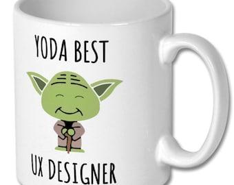 BEST UX DESIGNER mug, ux designer, ux designer mug, ux designer gift, ux designer coffee mug, ux designer gift idea, gift for ux designer