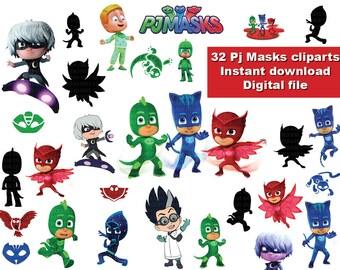 INSTANT DL 30 X Pj Masks Clipart Png
