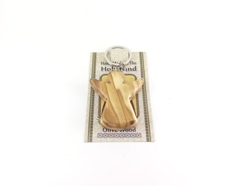 Olive Wood Angel Key Ring Key Chain Hand Carved in Bethlehem Holy Land
