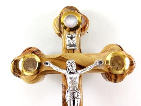 8 inches or 20 cm An Icon of faith Holy Land Market Olive wood Cross with Crucifix carved by Laser