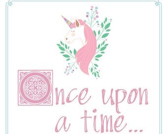 Once Upon a Time Unicorn Invitation