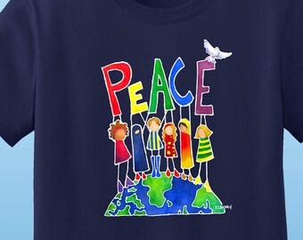 Peace On Earth Womens T-shirt