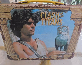 1980 Clash of The Titans Metal Lunchbox/Clash of The Titans/Vintage Metal Lunchbox