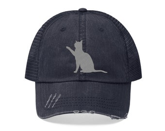 Cat Embroidered Hat  Cat Mom  Cat Lovers  Cat Gifts  Christmas Gifts  Gifts  for Cat Lovers  Kitty  Kittens  Meow  Fur Mama  Cat Person 5b3d3f639717