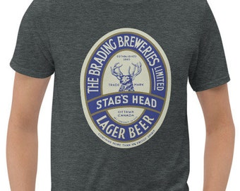Brading Breweries Stag's Head Lager Short-Sleeve Unisex T-Shirt