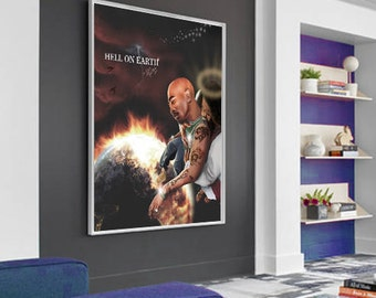 Tupac Saved from a Hell on Earth Poster (Frame Not Included)