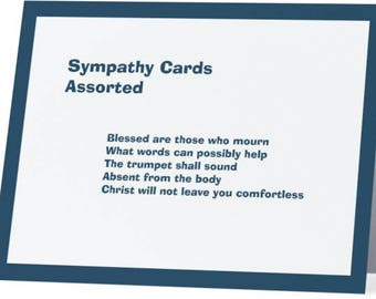 Sympathy Cards -  Assorted