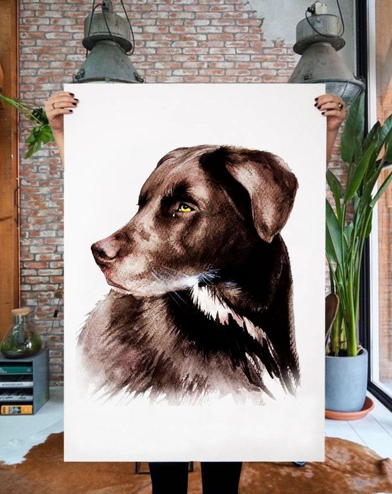 Custom DOG PORTRAIT Memorial custom pet Dog portrait Personalized gift Pet Portrait Dog portrait custom Portrait from photo Dog lover gift