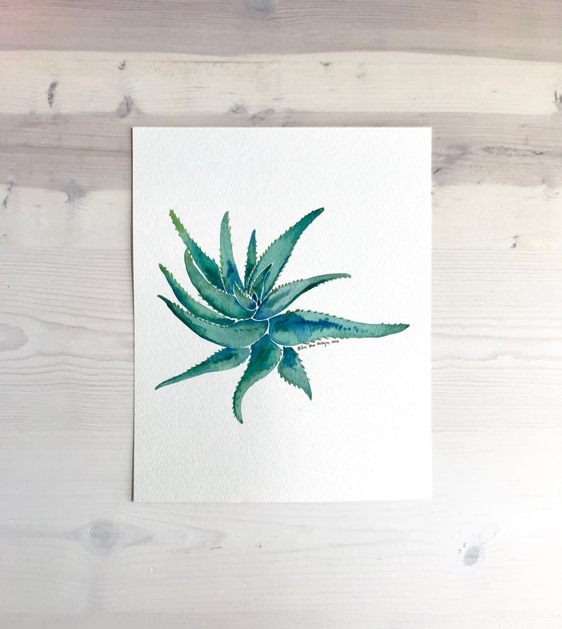 Succulent Aloe Watercolor Print Botanical Art Succulent Decor Cactus Watercolor Fine Art Print Succulent Print Home Decor Wall Art