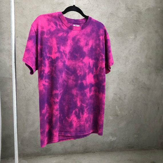 Tie Dye Tee Shirt / Bleach Dye Shirt / Bleached S… - image 1