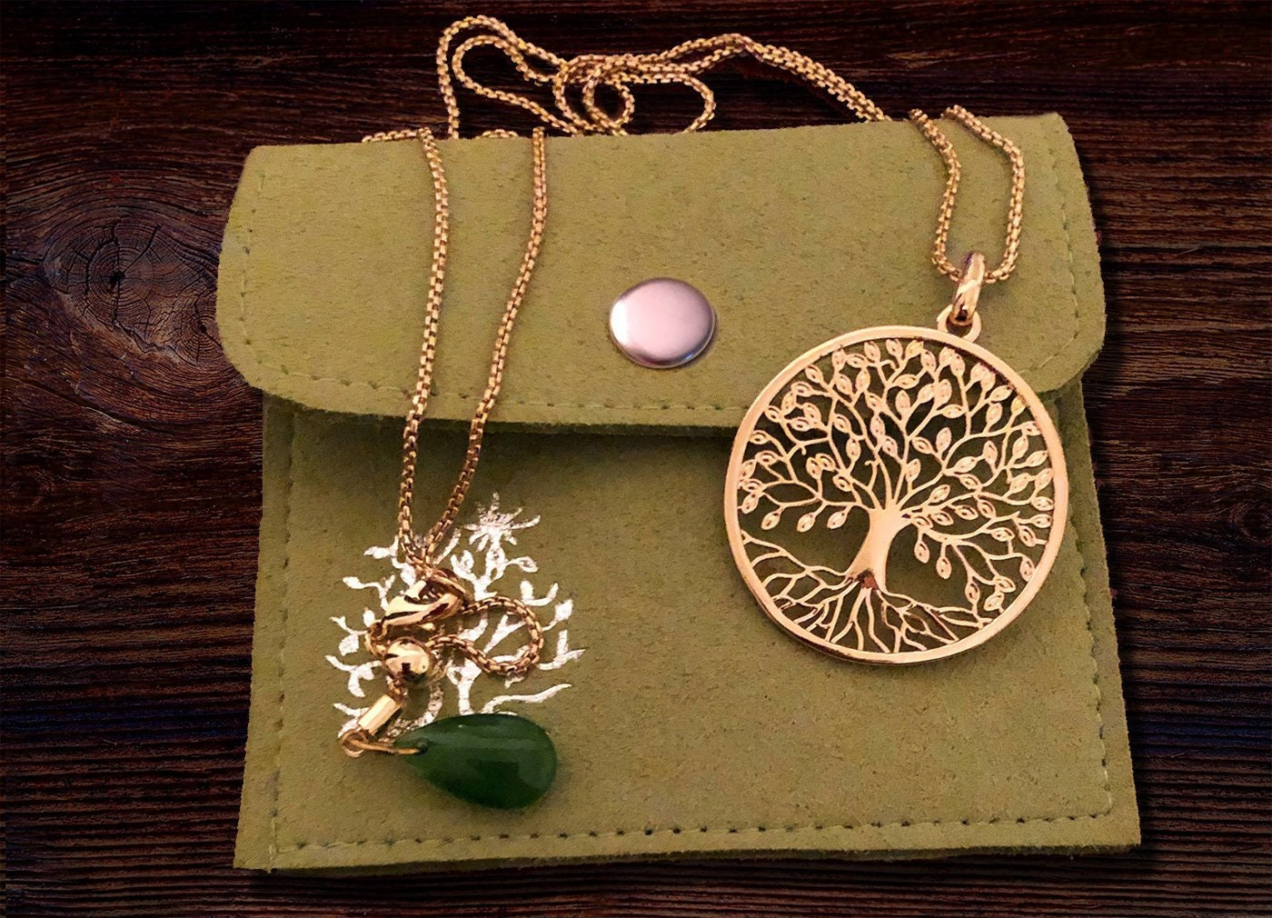Simple Everyday Necklace Silver Tree Of Life Necklace Pendant With Cross Girlfriend Gift Family Tree Gift For Her Gift Pouch