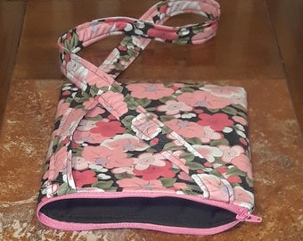 Pink Flowers-Child Crossbody