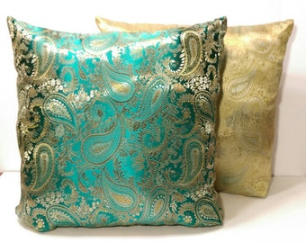 Paisley Jade Pillow and Cover