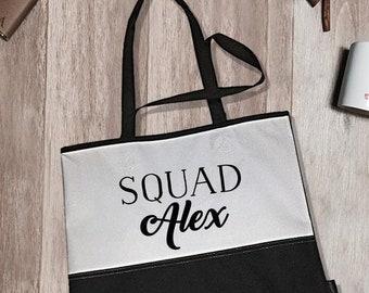 Squad Alex Encore Tote Bag | Bridal Tote Bags | Bridal Party Tote Bags | Bachelorette Tote Bags | Bridal Party Accessory | Bride Tote Bags