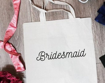 Bridesmaid Tote Bag | Bridesmaid Totes | Bridesmaid Canvas Bag | Bridesmaid Gifts | Bridesmaid Favors | Bridesmaid Accessory | Bridal Totes