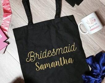 Bridesmaid Samantha Canvas Tote Bag | Bridesmaid Tote Bag | Bridesmaid Totes | Bridesmaid Accessory | Bcahelorette Party Totes | Bride Gifts