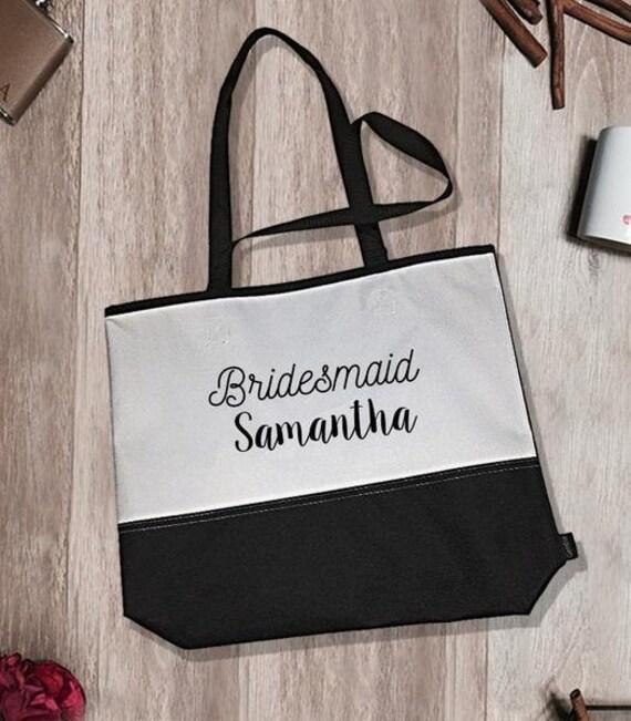 Bridesmaid Samantha Encore Tote Bag Bridesmaid Tote Bag Bridesmaid Totes Bridesmaid Accessory Bridesmaid Gifts Bridal Party Totes