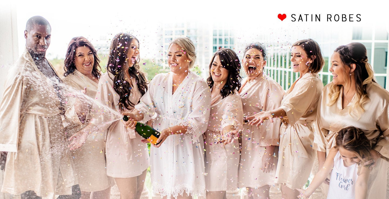 Bridesmaid Robe Set of 4 Robes, Bridesmaid Robe Set of 3 Robes, Bridesmaid Robe Set of 2 Robes, Make your own set of Robes: Any Qty Any Size