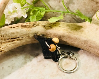 Blue Tiger Eye keychain