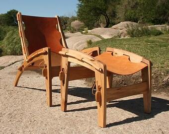 Fine Quilpo Ottoman Leather Sling Chair Ottoman Etsy Spiritservingveterans Wood Chair Design Ideas Spiritservingveteransorg