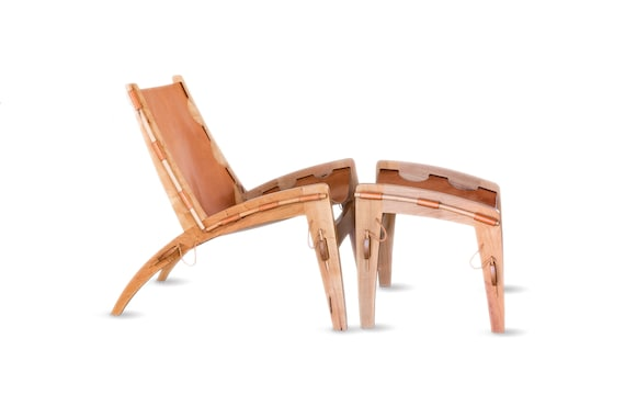 Phenomenal Quilpo Leather Sling Chair And Ottoman Spiritservingveterans Wood Chair Design Ideas Spiritservingveteransorg