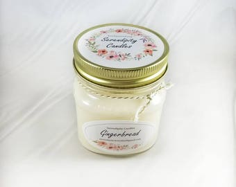 Gingerbread Serendipity Candles Hand Poured 8 oz. Soy Candle