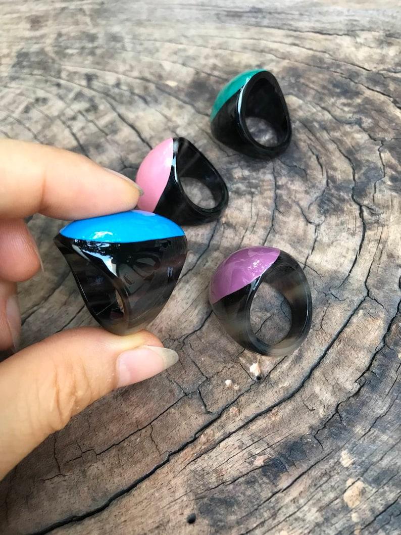 Gift for her Chunky ring Boho Ring Buffalo Horn Ring Horn Chunky Ring Buffalo Horn Jewelry Handmade ring