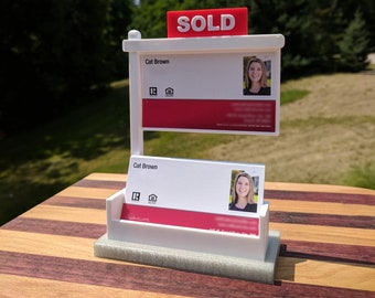 Real estate business cards etsy silver real estate realtor business card display business card holder realtor personalized gift real estate colourmoves