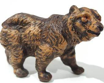 Antique Pre-war Japan Composition Painted Bear Figurine - Elastolin Lineol
