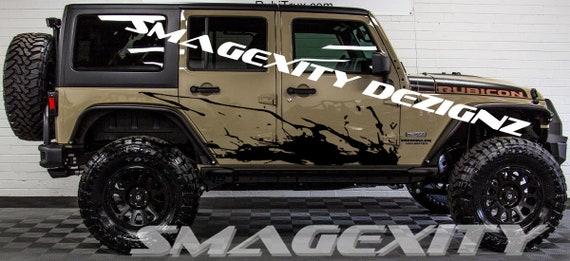 Custom Mopar Splatter Splash Mud Sling Jeep Rubicon Vinyl