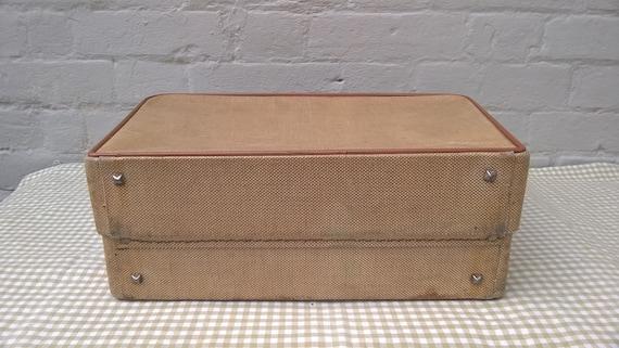 Vintage 1950s 'Revelation' tweed train case  vani… - image 6
