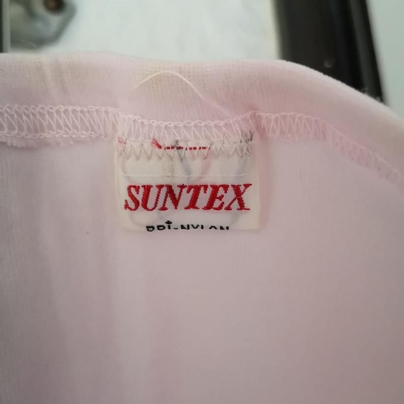 Suntex pale pink stretch nylon bloomers long drawers size S-M