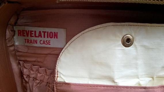 Vintage 1950s 'Revelation' tweed train case  vani… - image 10
